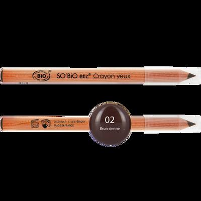 Crayon yeux tenue intense - 02 brun sienne - Sans étui