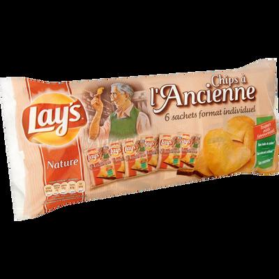 Chips à l'ancienne LAY'S, paquet de 6x27,5g
