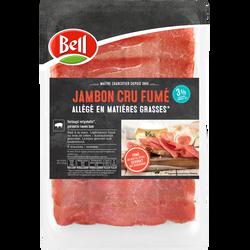 Jambon cru maigre fumé allégé en matières grasses BELL, 3% de MG, 8 tranches soit 100g
