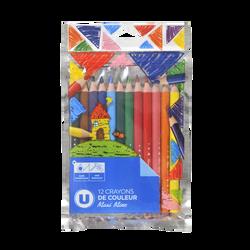 Crayons de couleur U maxi mine x12-15cm-opp bag
