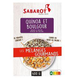 les mélanges gourmands quinoa et boulgour 400g SABAROT