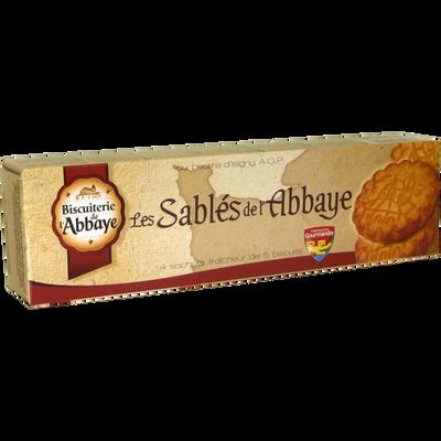Sablés au beurre BISCUITERIE DE L'ABBAYE, paquet de 4 sachet soit 125g