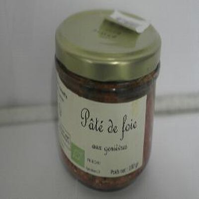 Pâté de foie aux genièvres Bio Ferme de Toulousette 180g