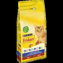 Croquettes stérilisées boeuf pour chat, FRISKIES, 2kg