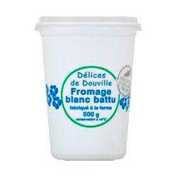 Fromage blanc battu DELICES DE DOUVILLE, 40%MG, 500g
