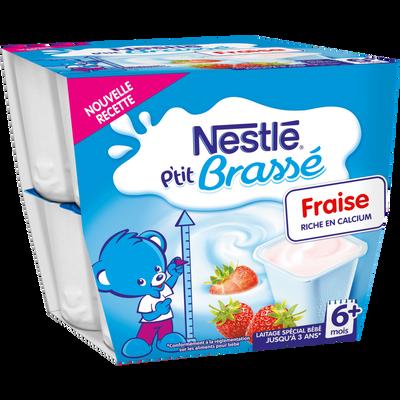 P'tit brassé fraise dès 6 mois NESTLE, 8x100g