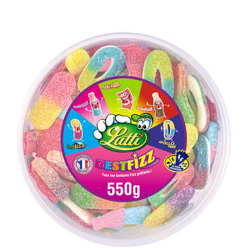 Lutti Bonbons Gélifiés Best Fizz Tubo Lutti, 550g