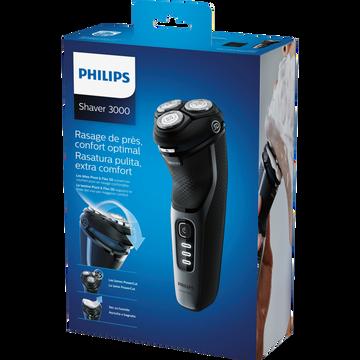 Philips Rasoir Philips Séries 3000 S3231/54-utilisable À Sec Ou Avec Mousse-poignée Ergo.pour Manip.facile-système Powercut-têtes Flexibles 5directions-60 Min