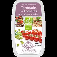 Tomates aux olives BIO CRUSCANA, barquette de 100g