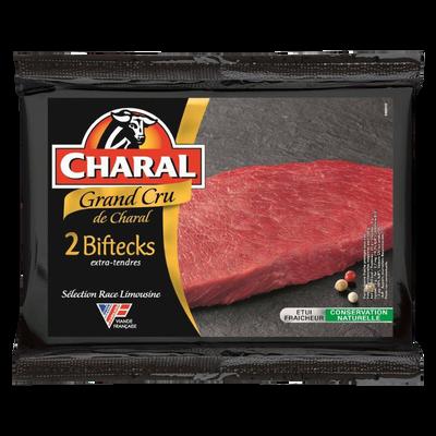 Steak de boeuf ***, à griller, Limousin, Grand Cru, CHARAL, France, 2pièces