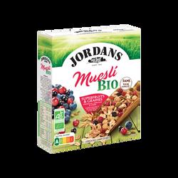 Céréales muesli superfruits complètes JORDANS, boîte de 450g