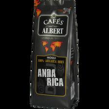 Café moulu arabica doux du Anda Rica CAFES ALBERT, 250g