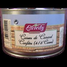 Confit de canard 4 cuisses, LAREDY, boîte de 1350g