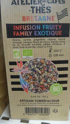 infusion fruity family bio 100gr ateliers des cafés