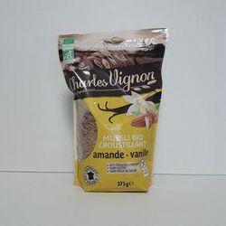 Céréales bio muesli amandes vanille sans gluten Charles Vignon