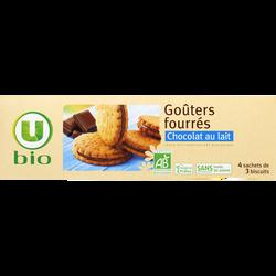 Goûters fourrés chocolat au lait U BIO, paquet de 185g