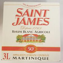 Rhum blanc, AOC de Martinique, SAINT JAMES, 50°, bib de 3l