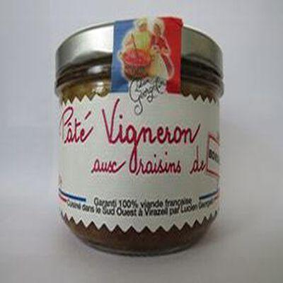 Pâté Vigneron aux raisins de bordeaux, 200gr, bocal, Lucien Georgelin
