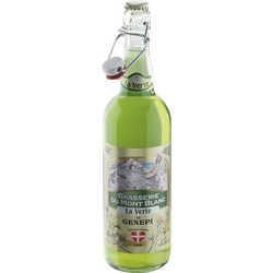 Bière au génépi La Verte MONT BLANC, 5,9°, bouteille de 75cl
