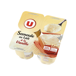 Semoule au lait à la vanille U, 4x115g