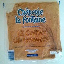Crêpes de froment x 12, CRÊPERIE LA FONTAINE, 380g