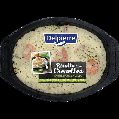 Risotto crevettes parmesan basilic, transformé en France, barquette 600g