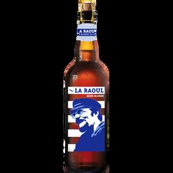 Bière blonde LA RAOUL,  7°, bouteille de 75cl