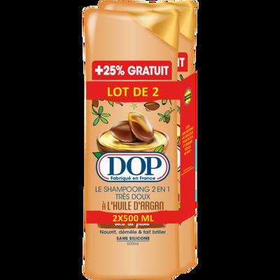 Shampoing à l'huile argan DOP, 2 flacons de 500ml