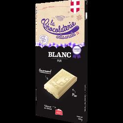 Tablette de chocolat blanc pur CHOCOLATERIE ARTISANALE, 100g
