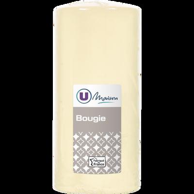 Bougie U MAISON, non parfumée, 68x145mm, ivoire