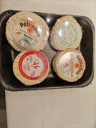 PLATEAU DECOUVERTE 4 CHEVRES : Pélardon: Vincent,Sabatier / Chèvre frais :Vincent , Moissac