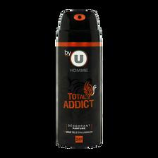 Total Déodorant Pour Homme 24h  Addict By U, Atomiseur De 200ml