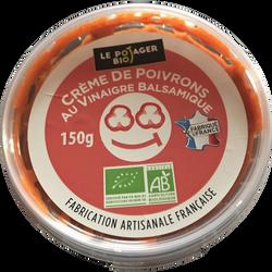 Crème de poivron au vinaigre balsamique, BIO, pot 150g