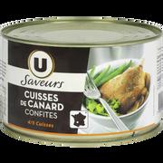Canard Confit Canard 4/5 Cuisses Tambourin Saveurs U, 0,750kg