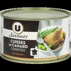 Confit canard 4/5 cuisses tambourin SAVEURS U, 0,750kg
