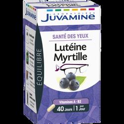 Equilibre santé des yeux Lutéine myrtille JUVAMINE, 40 gélules
