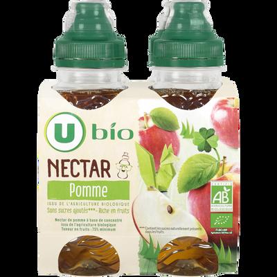 Nectar pomme sans sucre ajoutés U BIO, 4x20cl