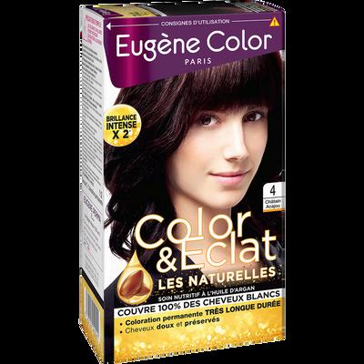 Coloration crème permanente EUGENE COLOR, Virginia, châtain acajou n°4