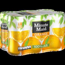 Jus d'orange à base de concentré MINUTE MAID, 6x33cl