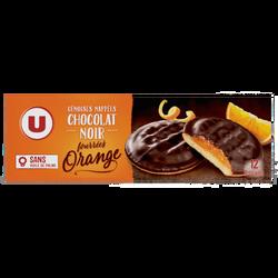 Génoises fourrées à l'orange nappées de chocolat U, 150g