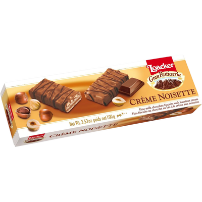 Biscuits Gran Pasticceria crème noisette LOACKER, 100g