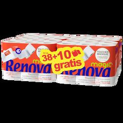 Papier hygiènique magic RENOVA, 38+10 offert