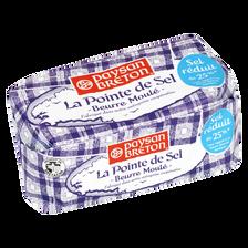 Beurre moulé pointe de sel 81% de MG, PAYSAN BRETON, 250g