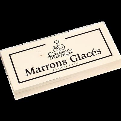 Marrons glacés L'ARTISAN PROVENCAL, coffret en bois de 12 unités de 240g