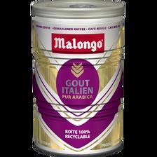 Café moulu pur arabica goût Italien MALONGO, 250g