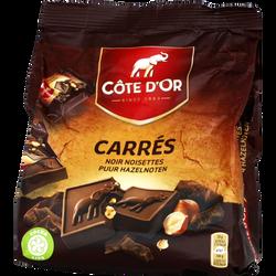 Carrés chocolat noir et noisettes COTE D'OR, 10x20g