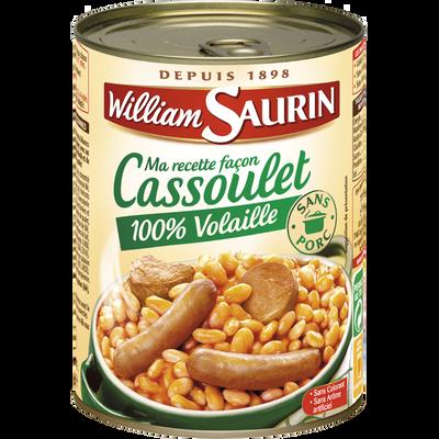 Cassoulet 100% volaille sans porc WILLIAM SAURIN boîte 1/2, 420g