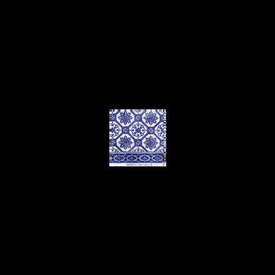 Serviettes, 3 plis, blue tiles, 33x33cm, 20 unités