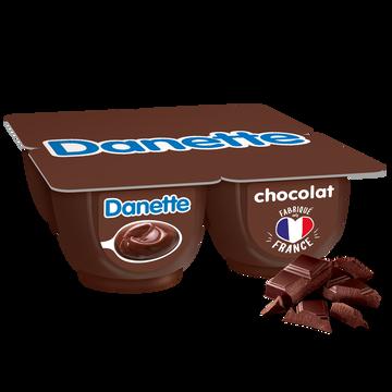 Danone Crème Dessert Chocolat Danette, 4x125g