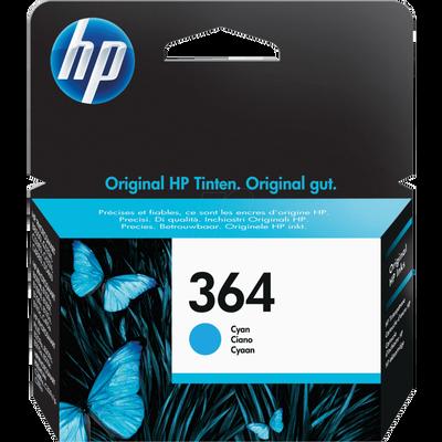 Cartouche d'encre HP pour imprimante, CB318EE cyan n°364, sous blister